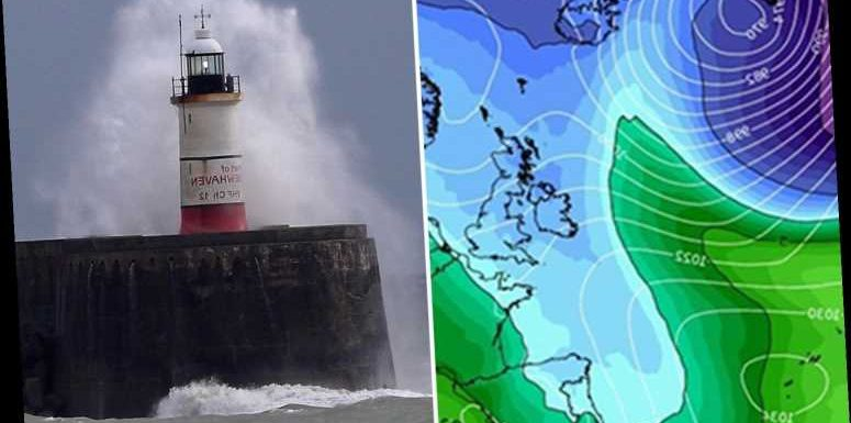 UK weather forecast – Big chill to hit TONIGHT as Arctic blast brings gales and torrential rain