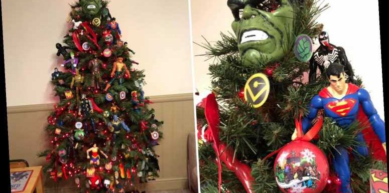 Mum creates amazing Marvel tree featuring the Incredible Hulk, Superman and more – and boys and girls will love it