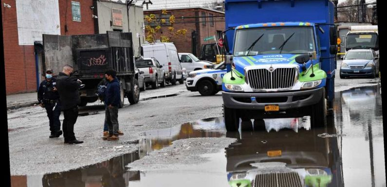 Construction worker fatally crushed between two trucks in Brooklyn