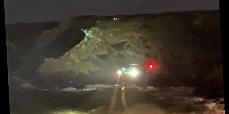 Young woman and man swept to their death after being knocked off sea wall by choppy waves