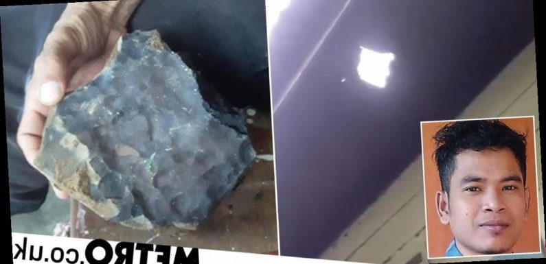 Man becomes millionaire when £1,400,000 meteorite crashes through his roof