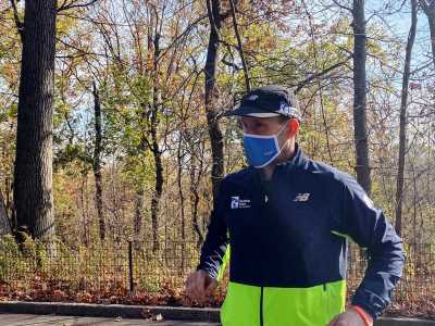 Blind man, 'born to run,' completes solo marathon with trial app to guide him
