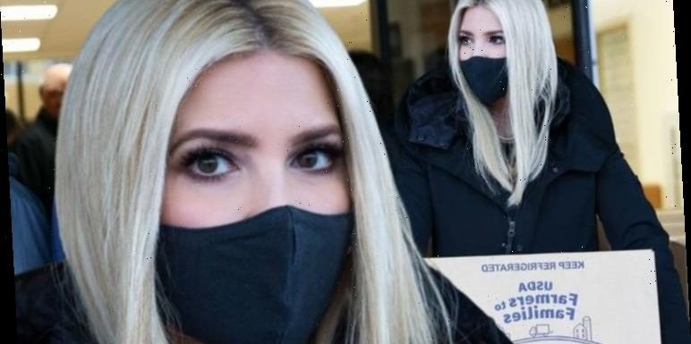 Ivanka Trump dons all black with matching face covering to help food bank in Virginia