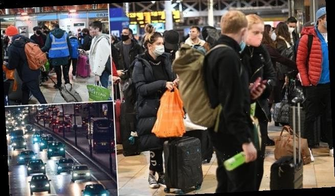 Queues at train stations as Londoners flee the capital ahead of Tier 4