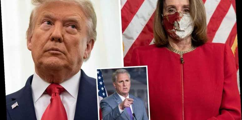 Pelosi accused of deliberately blocking vital stimulus cash to stop Trump from getting re-elected