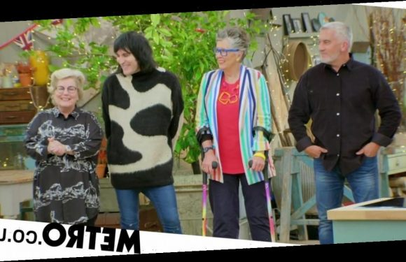 Why is Prue Leith on crutches as she judges the latest Celebrity Bake Off?