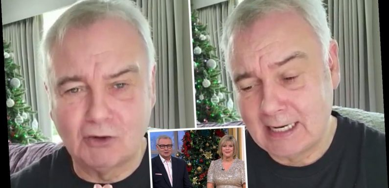 Eamonn Holmes says he's 'getting on with his life' in emotional video after being axed from This Morning