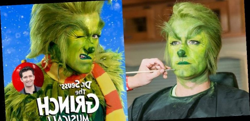 See Over 70 Photos of Matthew Morrison Dressed as The Grinch for NBC Special