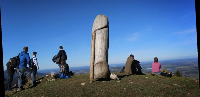 Phallic landmark statue in Germany mysteriously disappears; police investigating