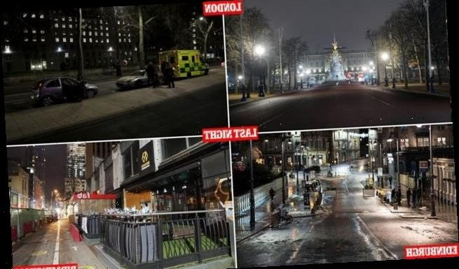 Streets deserted at midnight were packed with NYE revellers a year ago