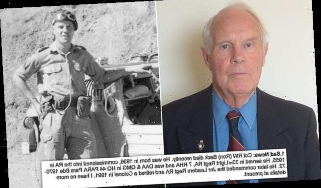 Retired Colonel, 84, 'rather amused' by 'sad news' of his OWN death
