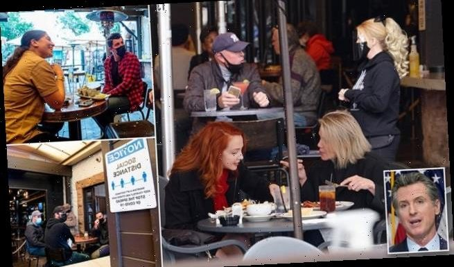 Los Angeles residents flock to restaurants as outdoor dining reopens