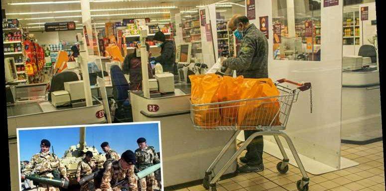 Gulf War vet says supermarket 'like warzone' and Covid-denying customers 'lick banknotes'