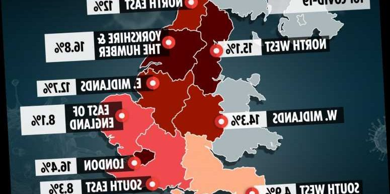 One in 6 have already had Covid in parts of England, antibody map reveals