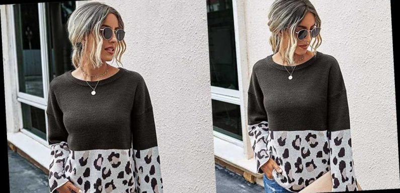 This Lightweight Leopard Sweater Is the Ultimate Transitional Knit