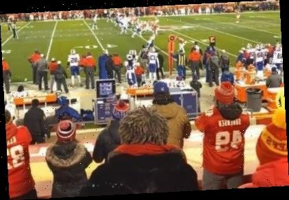 Trey Songz arrested after brawl with police officer at football game as cop is seen wrestling singer to the ground