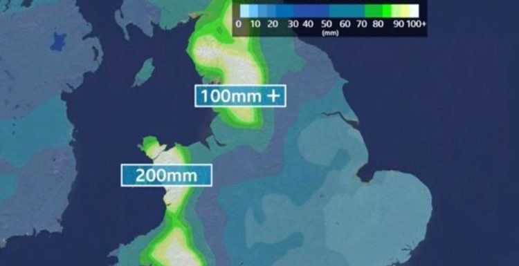 BBC Weather: Flood warnings issued as two months of rain set to fall in just three days