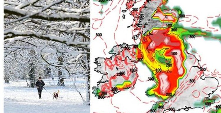 Long-range forecast: Chart turns RED as snow blitz batters Britain in -9C Arctic freeze