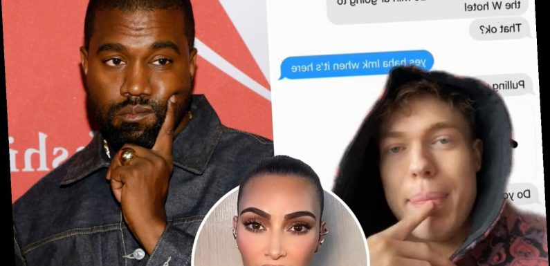 Kanye West fans in uproar as TikToker Cole Carrigan hints he had an AFFAIR with rapper as Kim Kardashian 'plans divorce'