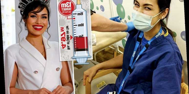 Reigning Miss England receives Covid vaccine to continue her work as NHS doctor on the frontline