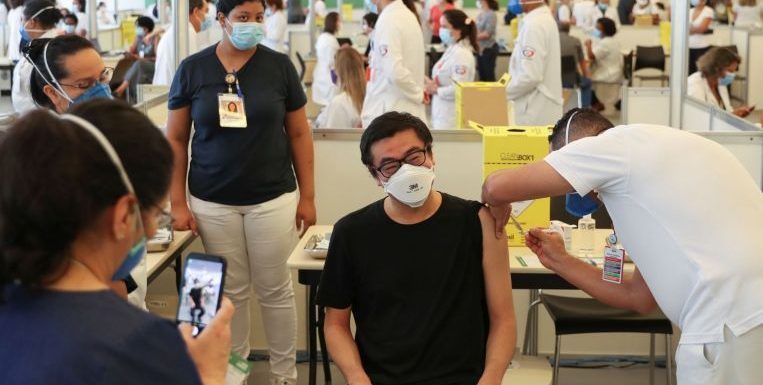 Brazil vaccinations start nationwide as country faces vaccine ingredient shortfall