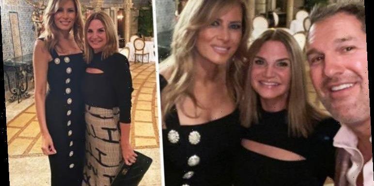 Melania Trump stuns in Dolce & Gabbana little black dress for romantic dinner
