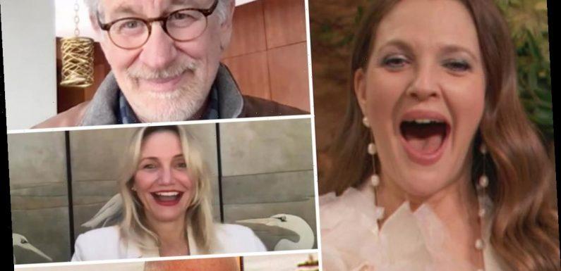 Cameron Diaz, Steven Spielberg & David Letterman Surprise Drew Barrymore on Her Birthday