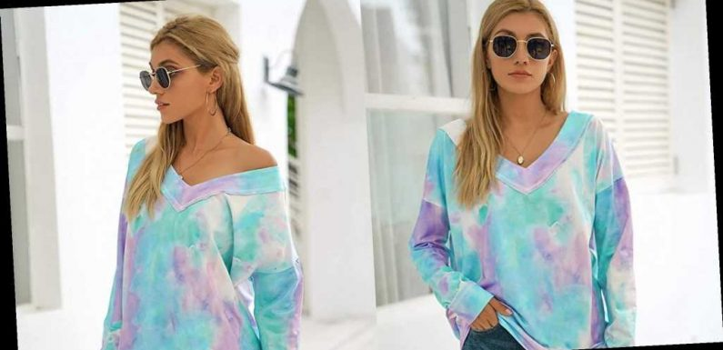 This Tie-Dye Sweatshirt Will Add Good Vibes to Your Instagram Feed