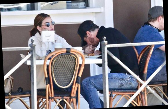 Lucy Hale, 31, and Skeet Ulrich, 51 appear to be a new couple as they kiss and hold hands on lunch date