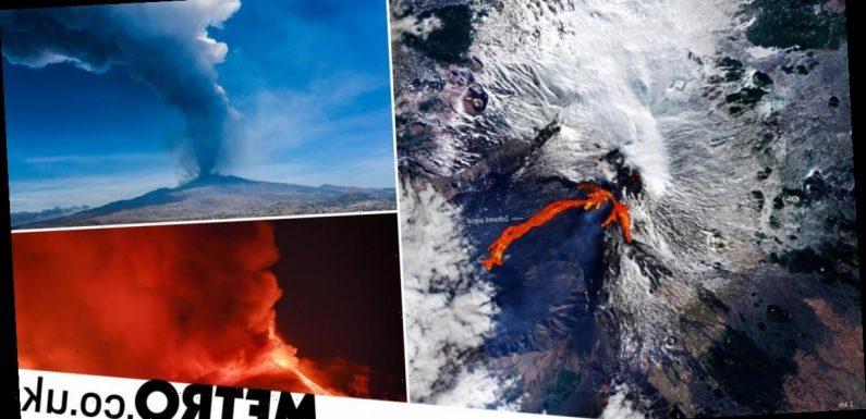 Mount Etna's spectacular eruption was so violent it was seen from space