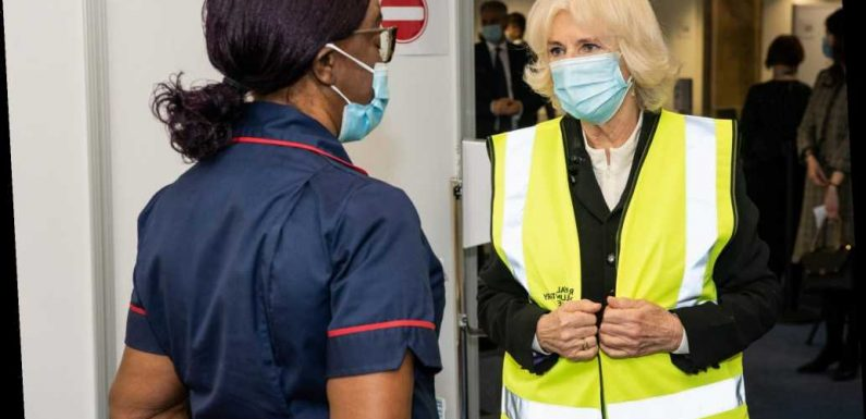 Camilla, Duchess of Cornwall Meets Volunteers at COVID Vaccination Center: 'First Step of Freedom'