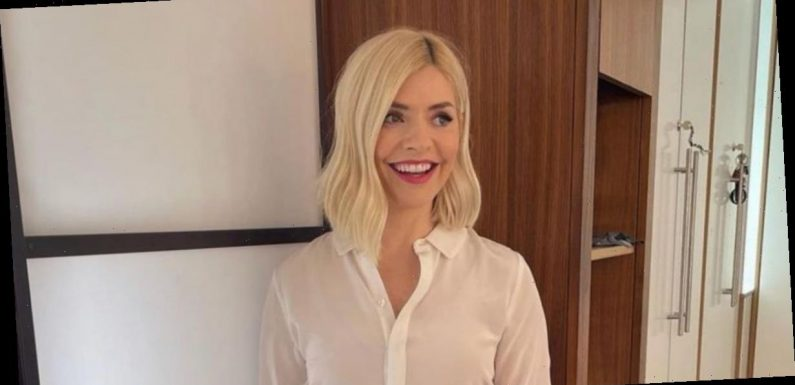Holly Willoughby shows off her curves in £49.99 figure hugging skirt on This Morning – Copy her look here