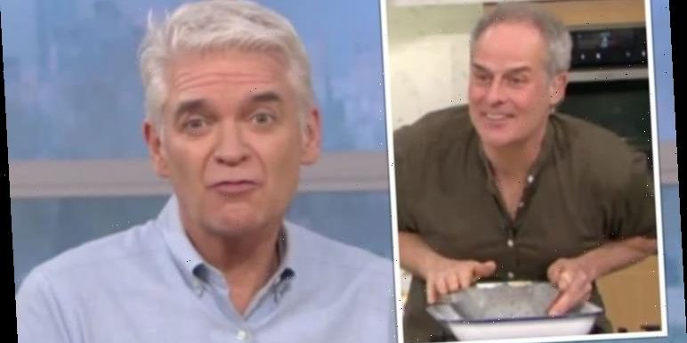 'Didn't mean to pull a face' Phillip Schofield leaves chef aghast as he grimaces at dish