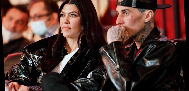 Kourtney Kardashian and boyfriend Travis Barker have date night at UFC 260