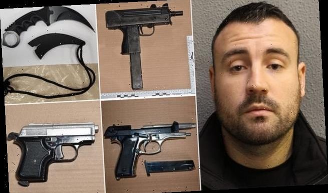 Gun dealer who stashed dozens of weapons in daughter's room is jailed