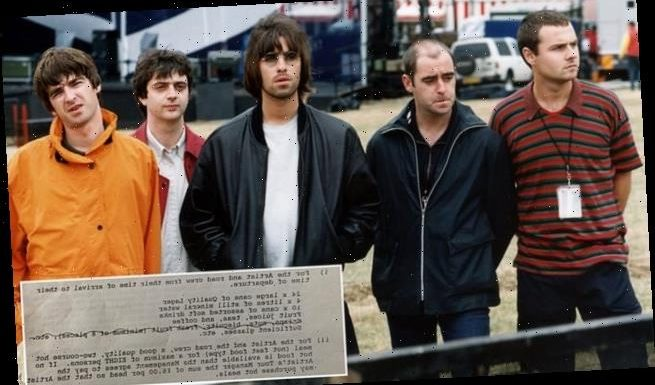 Early Oasis gig contract is up for auction