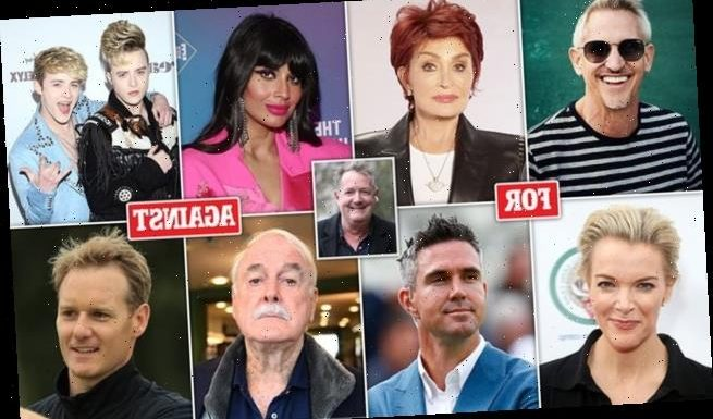 Celebrities supporting or criticising Piers Morgan after he leaves GMB