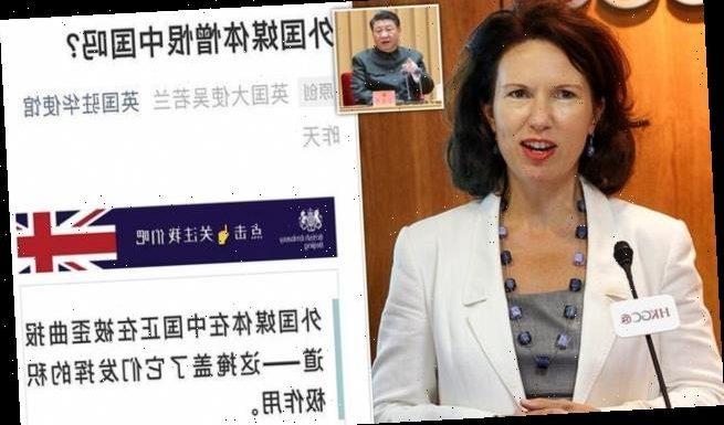 China renews attacks on British ambassador in row over media freedom