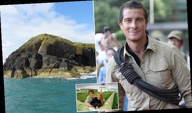Bear Grylls applies to plant 'Private Property' signs on Welsh island