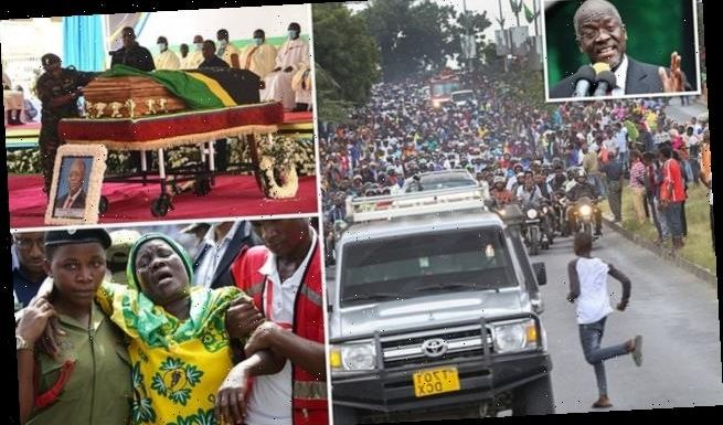 Five mourners killed in stampede at Tanzanian president's funeral