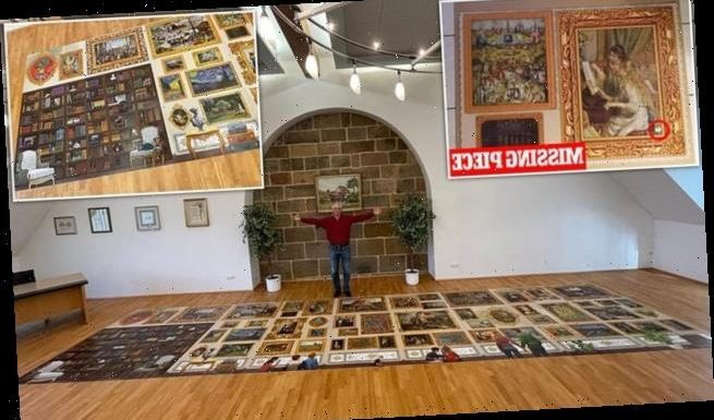 Man completing 190-square-feet jigsaw discovers final piece is MISSING