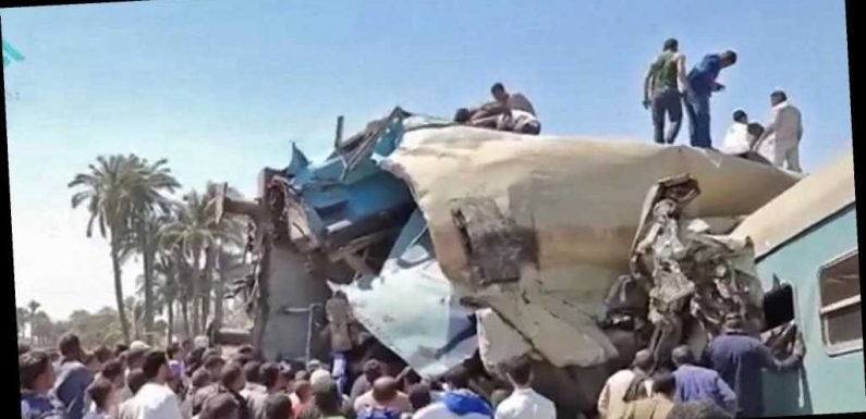 Dozens killed as trains collide in southern Egypt