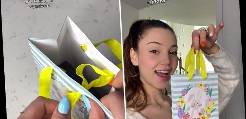 You've probably been using gift bags wrong – savvy woman reveals 'right' method that keeps them closed