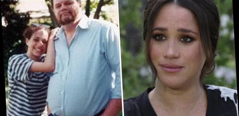 'Uncomfortable' Meghan Markle is 'awkward' as she discusses rift with estranged dad Thomas, body language expert reveals