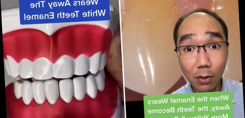 You've been brushing your teeth all wrong – dentist warns scrubbing them too hard actually makes them MORE yellow