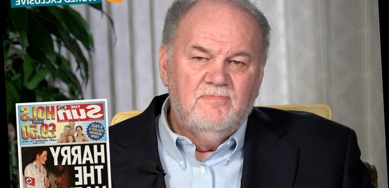 Thomas Markle says 'we all make mistakes but I never played naked pool or dressed up as Hitler' in Prince Harry jibe
