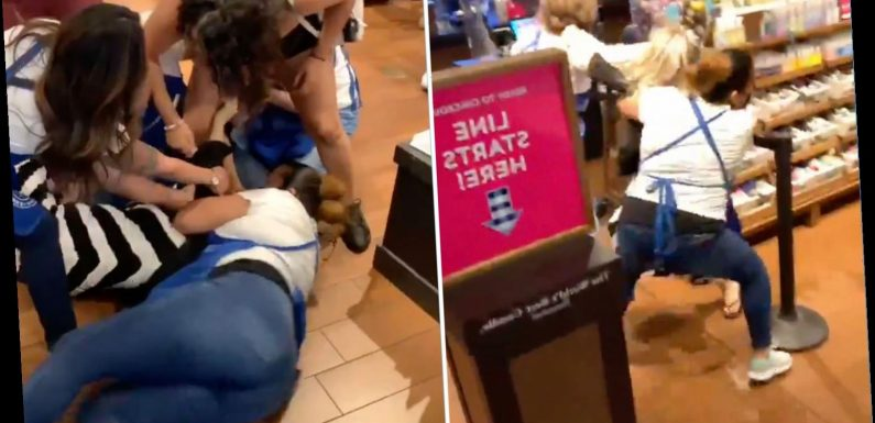 Bath & Body Works brawl breaks out as female employees fight with woman who 'stood too close to customer'