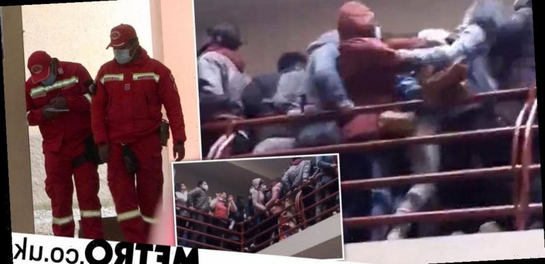 Seven students dead and five injured after university balcony railing collapses