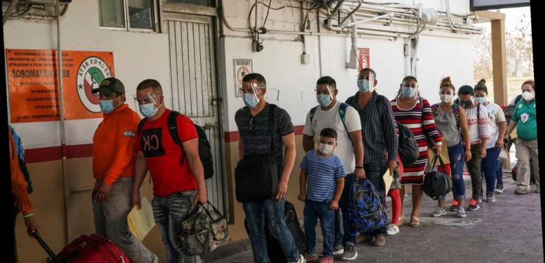 Closed Mexico migrant camp's 800 residents reach US — regardless of COVID status