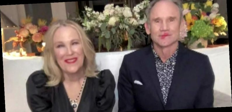 Catherine O'Hara's Husband Bo Welch Has Her Lipstick All Over Him During Critics Choice Awards